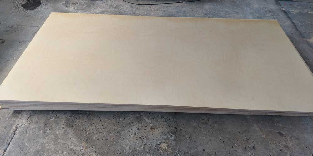 5'x10' prefinished birch plywood ready for CNC routing