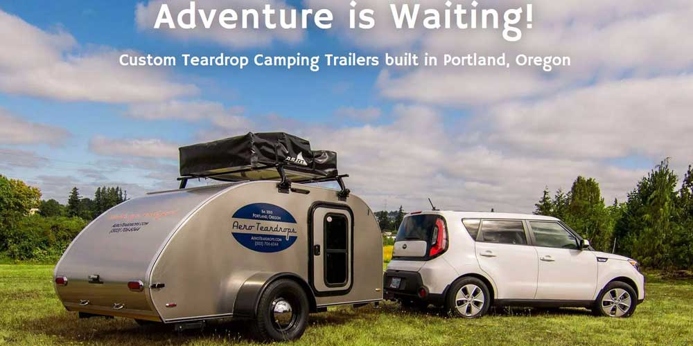 Aero Teardrops Custom Teardrop Trailers made from parts CNC routed by Stumptown CNC